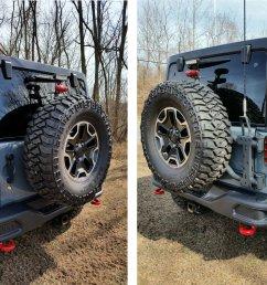 review photo maximus 3 jk modular tire carrier sport package [ 1500 x 1500 Pixel ]