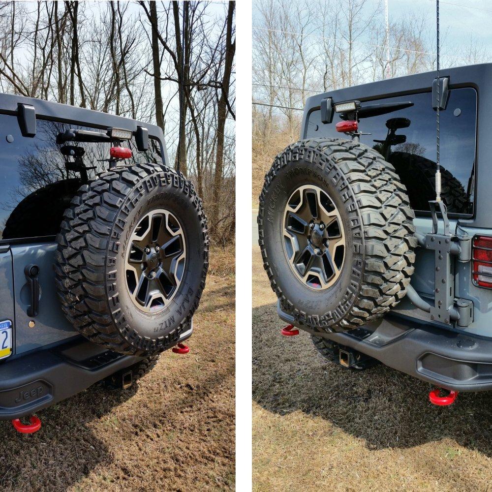 medium resolution of review photo maximus 3 jk modular tire carrier sport package