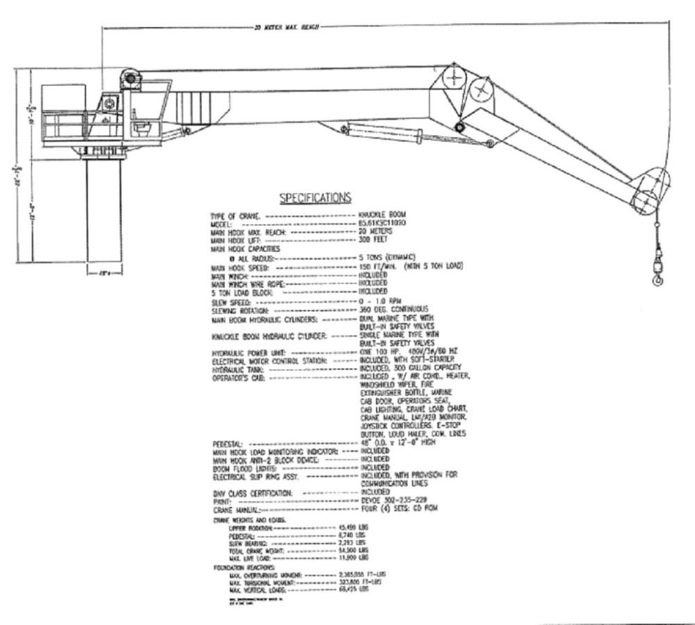 medium resolution of https www offshore crane com wp content uploads 2016 03 good crane knuckleboom crane for sale ga drawing 1024x921 jpg