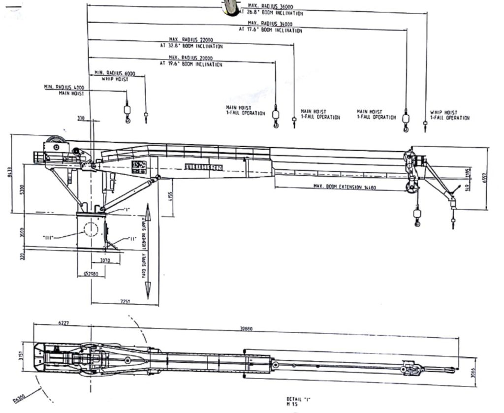 hight resolution of  50 ton liebherr offshore subsea crane for sale ga drawing