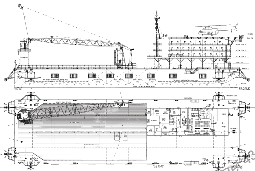 medium resolution of original barge layout