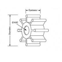 turbine pour mercury mariner 3.5 à 9.8cv 2t