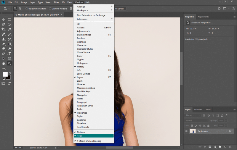 How to Get Toolbar Back in Photoshop