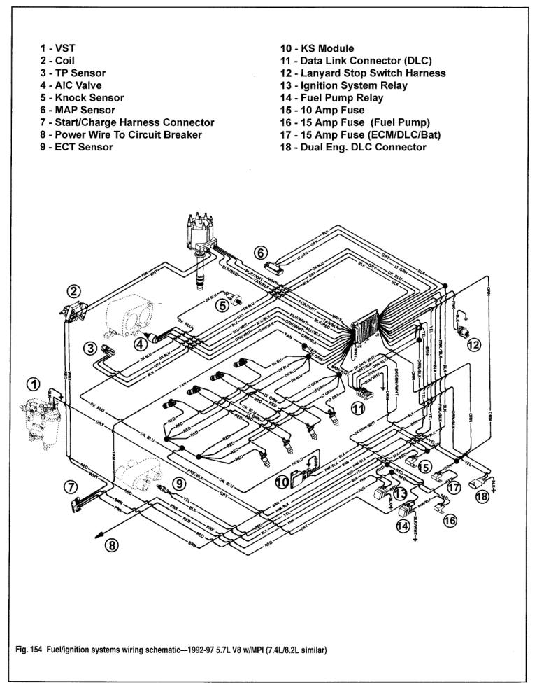 Wiring Schematic For A 1987 Mercruiser 454 : 42 Wiring