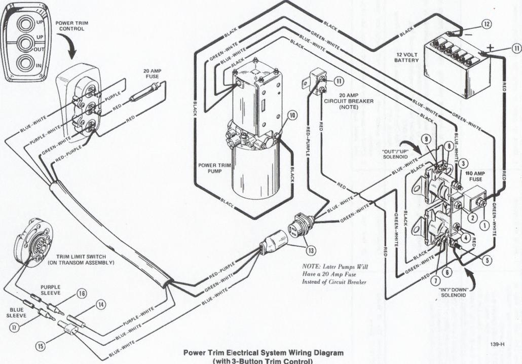Mercruiser Trim Pump Wiring Diagram : Mercruiser power trim diagram html imageresizertool