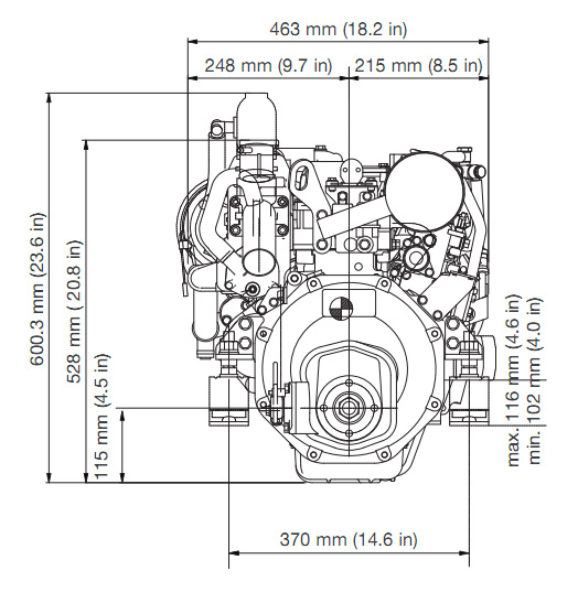 Yanmar 2YM15 Engine Offshore Marine