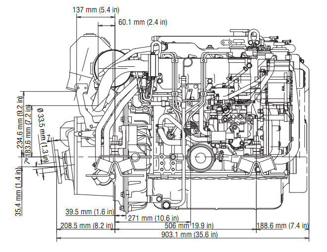 Yanmar 4JH5-TE Offshore Marine