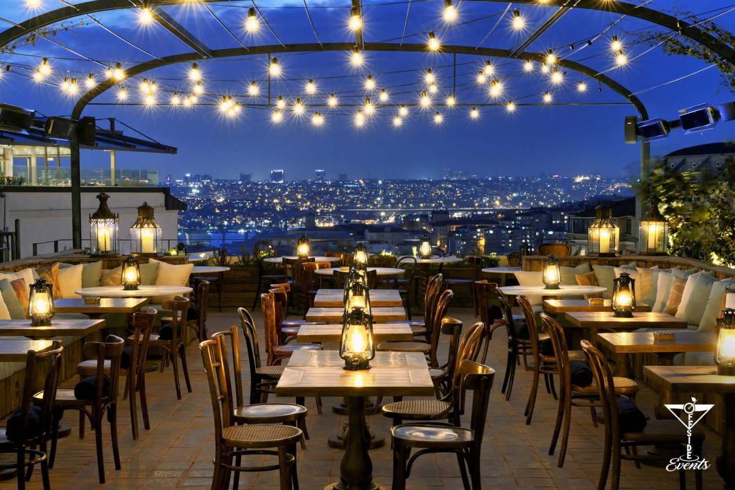 Gli Skybar nel modno- the roof NY, Temple bar, open bar
