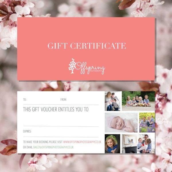 photoshoot gift certificate