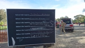 Before I Die mobile wall