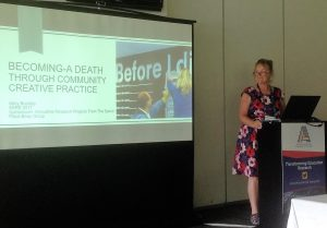 Abby presenting at AARE 2016