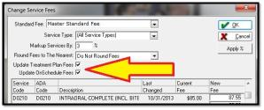 Eaglesoft Tip - Updating Fees 1