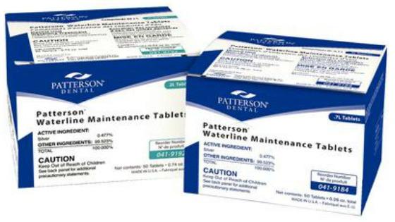 patterson waterline maintenance tablets