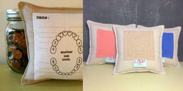 lost tooth map pillow