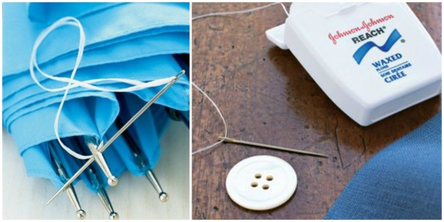 floss as thread substitute