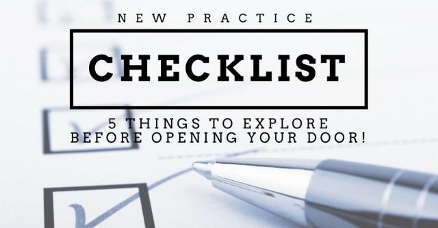 new practice checklist header