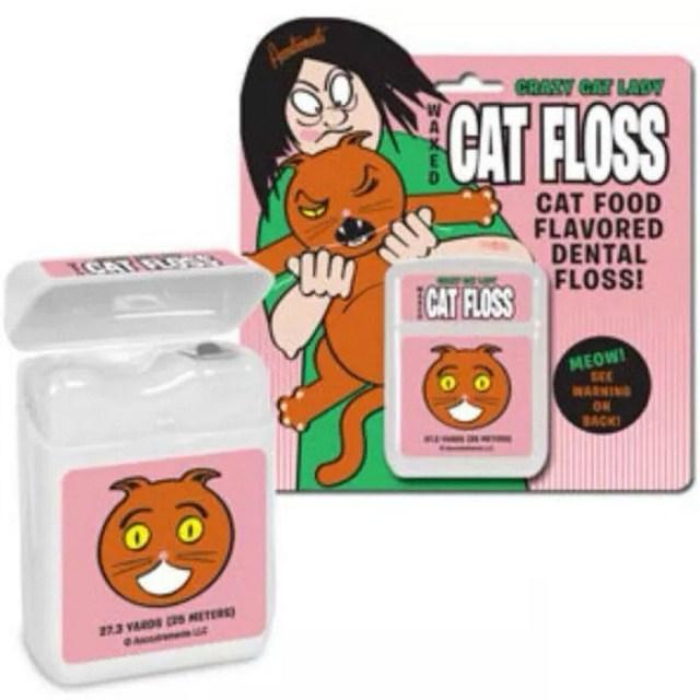 tuna cat food flavored dental floss