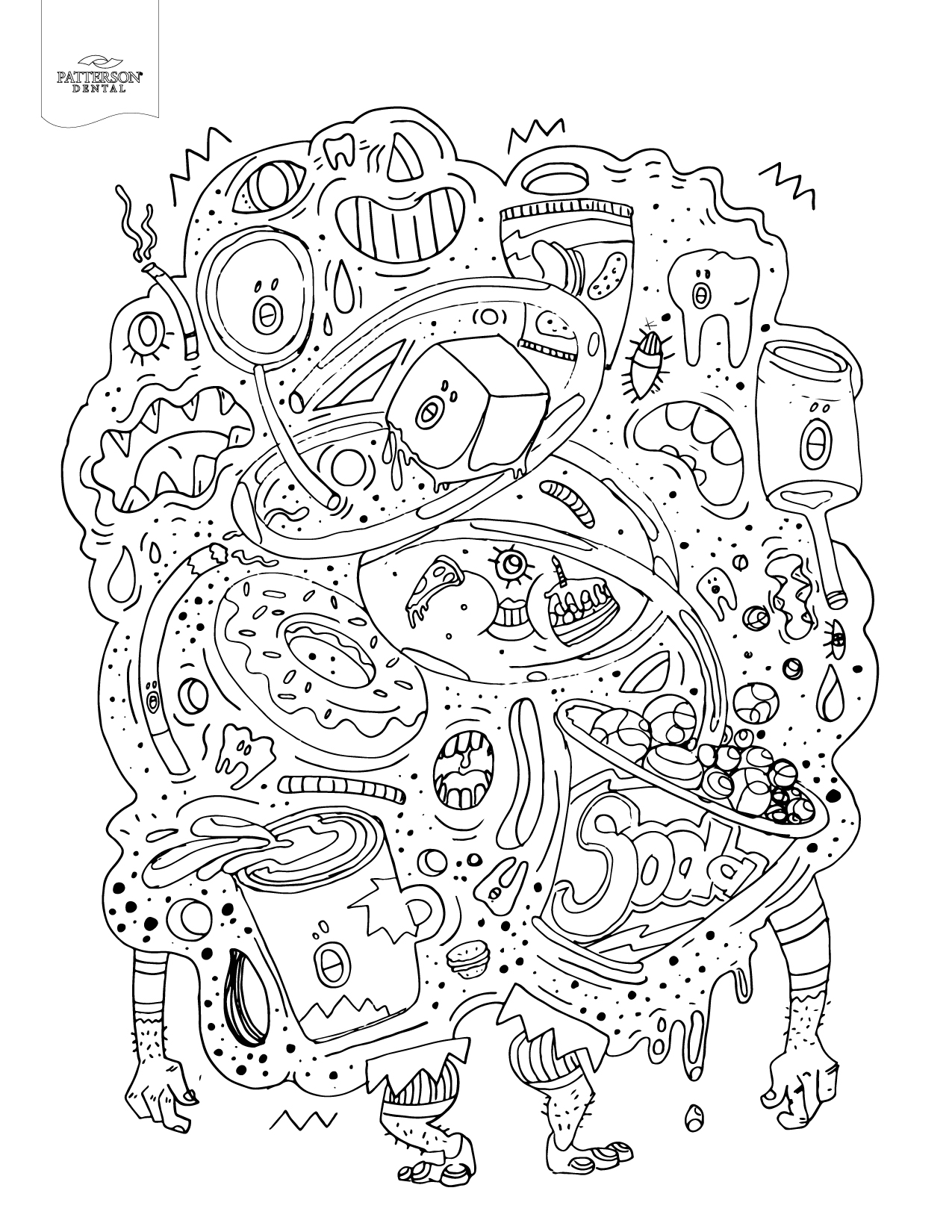 10 Toothy Adult Coloring Pages Printable
