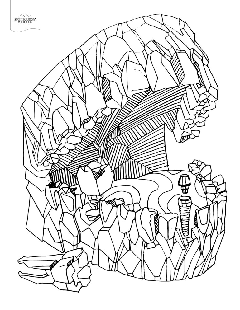 10 Toothy Adult Coloring Pages [Printable] – Off the Cusp | printable coloring pages for adults