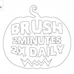 brush 2 minutes 2x daily coloring page