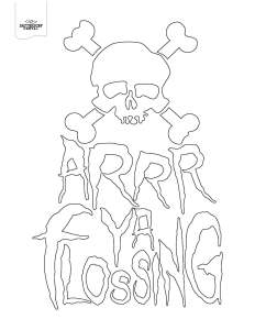 arrr ya flossing coloring page