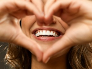 love your smile hand heart gesture