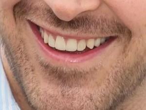 ryan gosling smile closeup