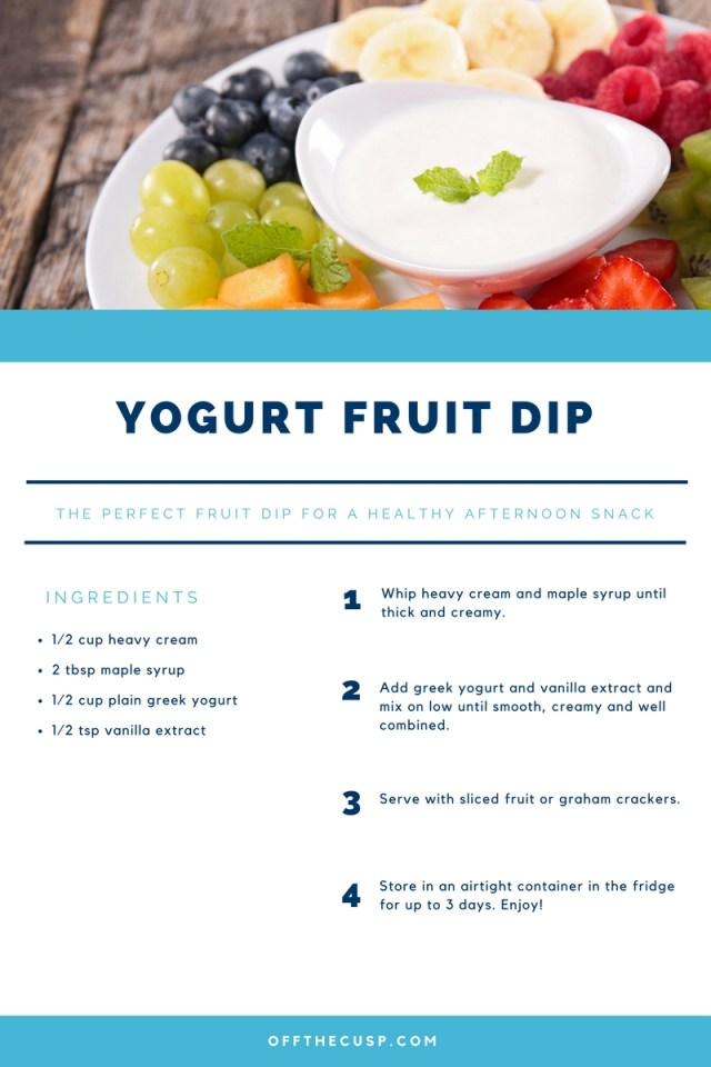 yogurt fruit dip