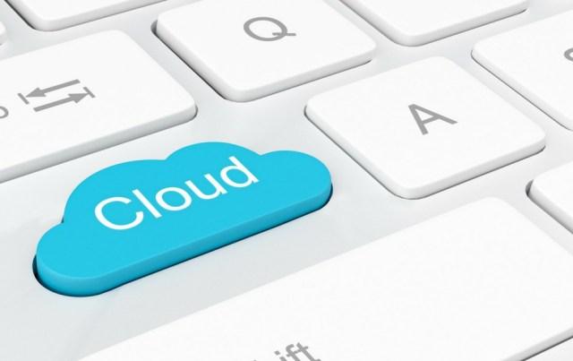 cloud storage button on a keyboard