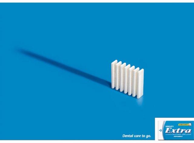 creative extra gum dental ad