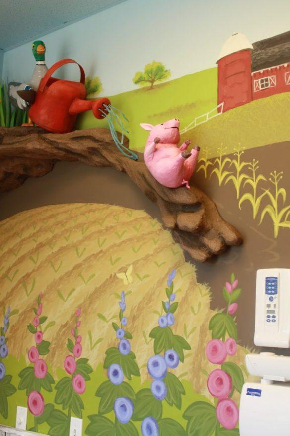 farm themed operatory pig slide