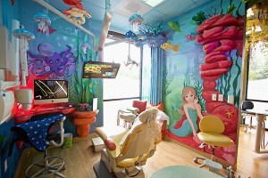 under the sea themed dental operatory