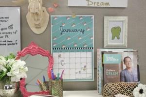 2018 dental printable calendar preview