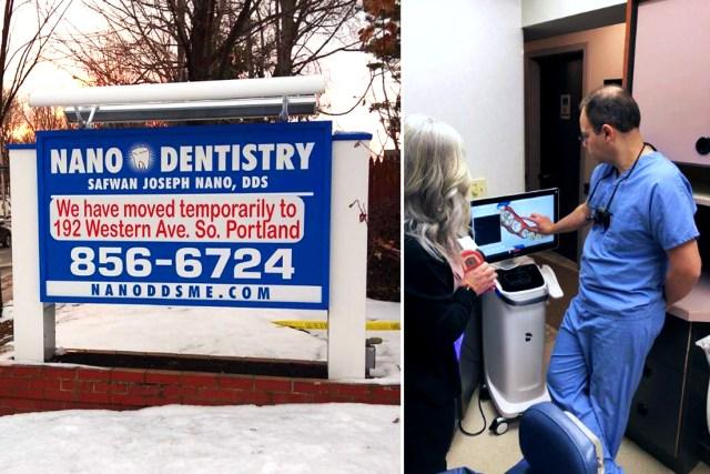 nano dentistry temporary location after fire