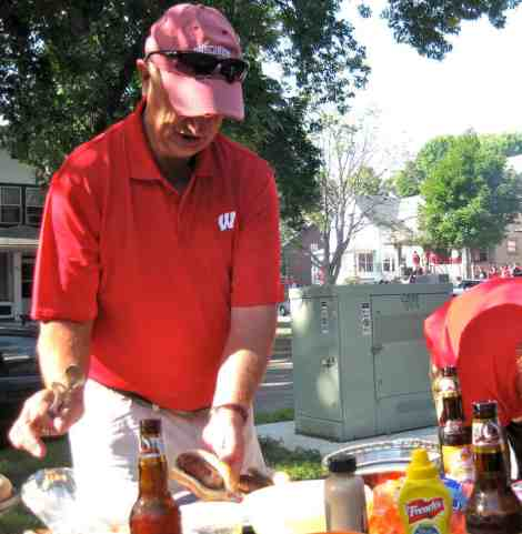 tailgating beer boiled brats