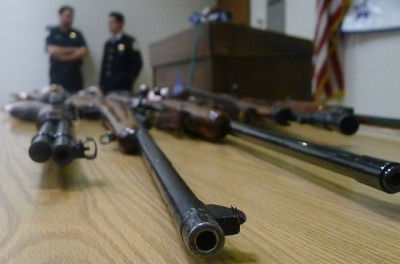 police confiscated guns
