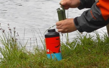 Drinking water safely in the wilderness