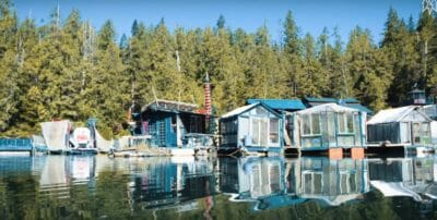 Couple's Floating Homestead Boasts Greenhouses, Gardens, Garage, Bedrooms … And A Lighthouse