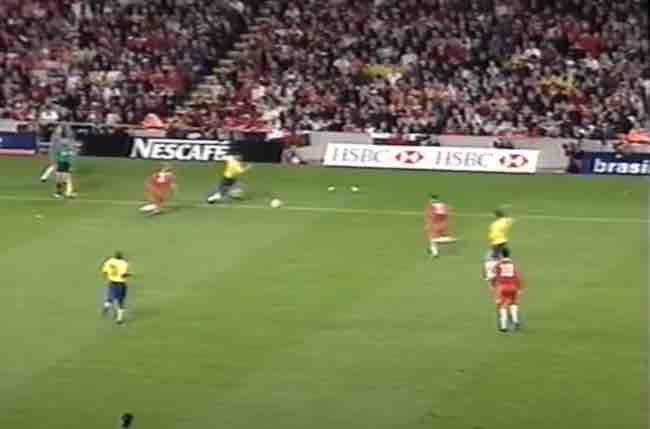 Wales vs Brazil pitch size in May 2000.