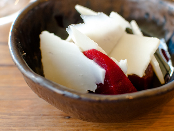 Barossa aged goat cheese, pickled beetroot
