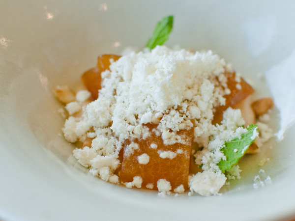 Apple, sichuan pepper, mint, walnut