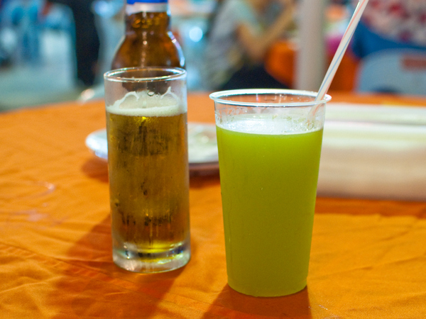 Beer and sugar cane juice