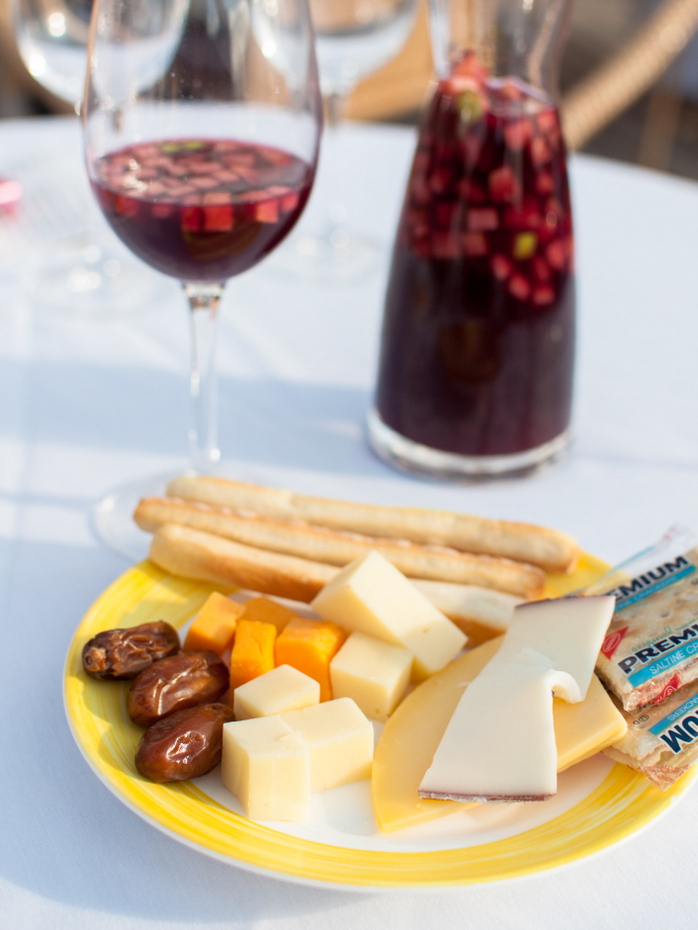 Sangria and cheese
