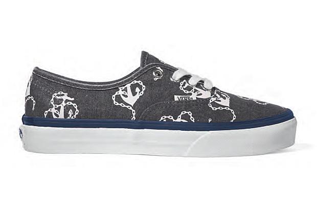 Anchor Print Vans Shoes
