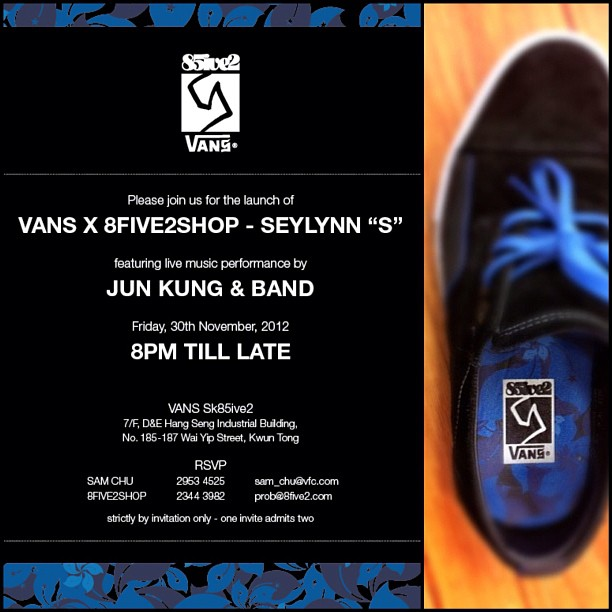 "7c2b1465bdeb2a It looks like Hong Kong skateshop 8FIVE2 is set to drop their latest  collaboration project with Vans Syndicate. They re dubbing the shoe as the  ""Seylynn S""."