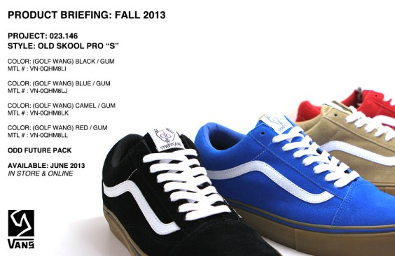 "a87987f9370e Vans Syndicate 023.146 – Old Skool Pro ""S"" Odd Future Pack ..."
