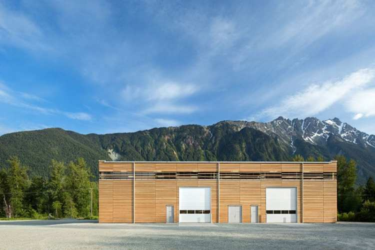 Canadian sustainable building BC Passive House Factory in Pemberton, British Columbia.