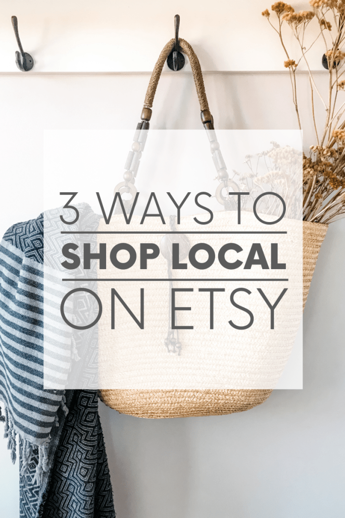 Love handmade and vintage items AND supporting local businesses? Did you know you can use Etsy to shop local? Well, you can!