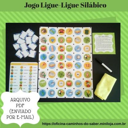Jogo Ligue-ligue silábico com as silabas ta te ti to tu