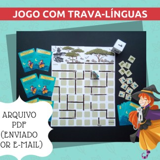 Jogo O Labirinto Encantado contendo atividades com trava-línguas.